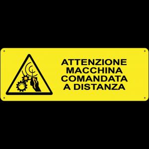 Attenzione macchina comandata a distanza orizzontale