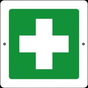 Targa in Plex Quadrata - Emergenza - Primo soccorso
