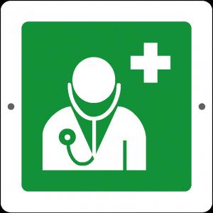 Targa in Plex Quadrata - Emergenza - Dottore