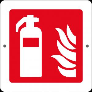 Targa in Plex Quadrata - Antincendio - Estintore