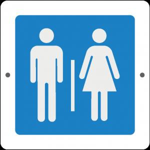 Targa in Plex Quadrata - Servizio - Bagno uomo donna
