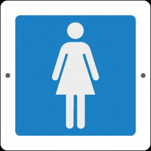 Targa in Plex Quadrata - Servizio - Bagno donna