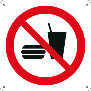 Vietato mangiare o bere quadrato