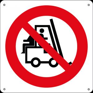 Vietato trasportare persone sui carrelli elevatori quadrato