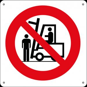Vietato sostare-passare sotto le forche dei carrelli elevatori quadrato