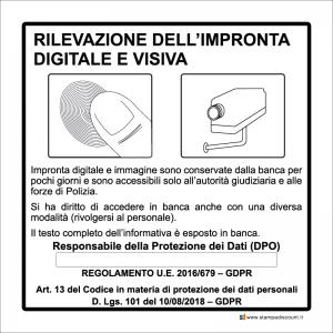Rilevazione dell'impronta digitale e visiva
