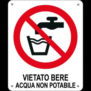 Vietato bere acqua non potabile verticale
