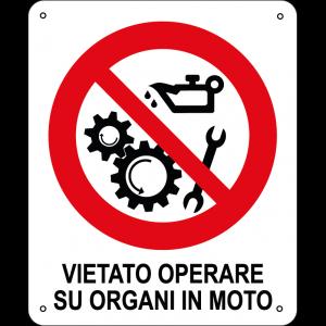 Vietato operare su organi in moto verticale