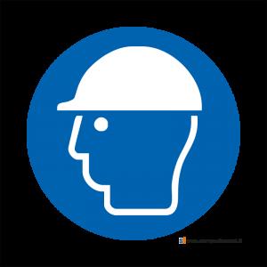 Obbligatorio indossare il casco di protezione - Bordo Macchina