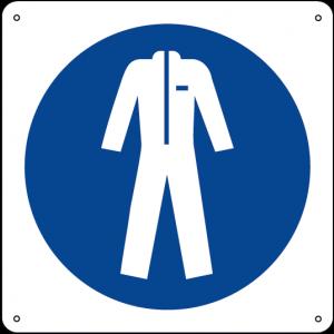 Obbligatorio indossare gli indumenti protettivi quadrato