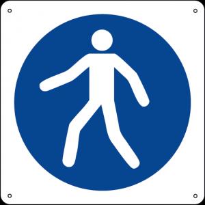 Obbligatorio utilizzare il percorso pedonale quadrato