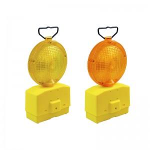 lampada a led da cantiere ambra o rosso