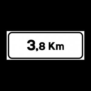 00000001b - Pannello integrativo - Distanza chilometri - Figura 1b