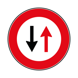 00000041 - Segnale di precedenza - Dare precedenza nei sensi unici alternati - Figura 41