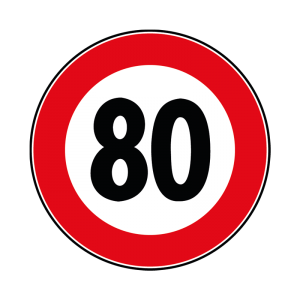 00000050 - Segnale di divieto generico - Limite massimo di velocità... km-h - Figura 50