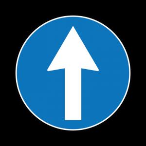 00000080a - Segnale di obbligo generico - Direzione obbligatoria dritto - Figura 80a