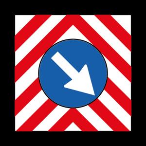 00000398a - Segnale di pericolo temporaneo - Passaggio obbligatorio per veicoli operativi - Figura 398a