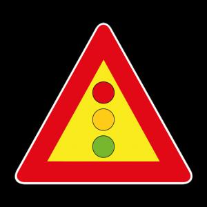 00000404 - Segnale di pericolo temporaneo -Semaforo - Figura 404