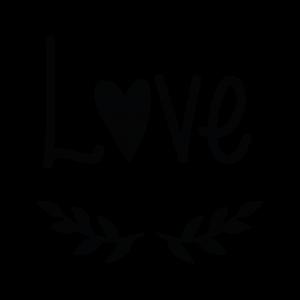 Love Cuore Foglie - Adesivo - cod. 00700207