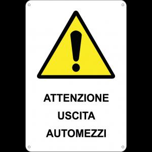 Attenzione uscita automezzi