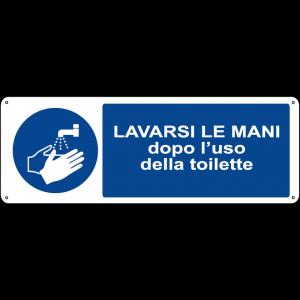 Lavarsi le mani dopo l'uso della toilette orizzontale