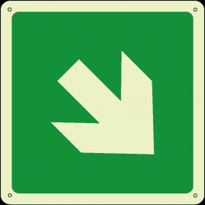 Freccia 45° quadrato luminescente
