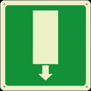 Uscita di emergenza quadrato luminescente