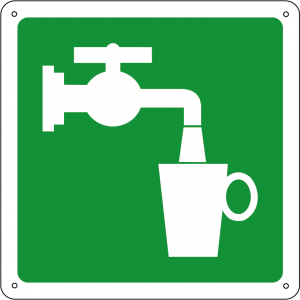 Acqua potabile quadrato