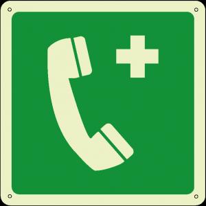 Telefono di emergenza quadrato luminescente