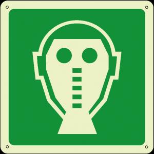 Maschera-respiratore di emergenza quadrato luminescente