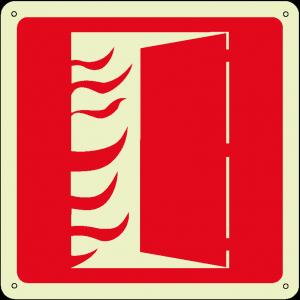 Porta tagliafuoco quadrato luminescente