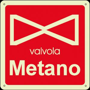 Valvola metano quadrato luminescente