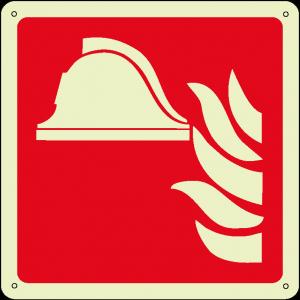Attrezzature antincendio quadrato luminescente