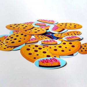 Stickers Adesivi Ovali