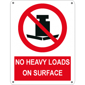 No heavy loads on surface