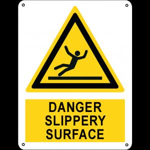 Danger slippery surface