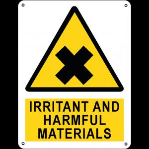 Irritant and harmful materials