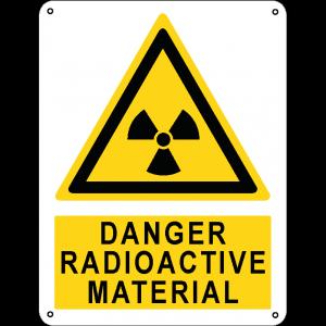 Danger radioactive material