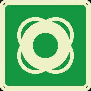 Salvagente - Lifebuoy quadrato luminescente
