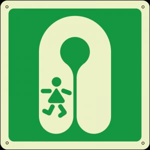 Giubbotto salvagente per bambini - Childs lifejacket quadrato luminescente