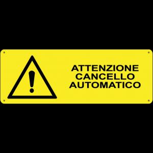 Attenzione cancello automatico orizzontale