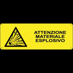 Attenzione materiale esplosivo orizzontale