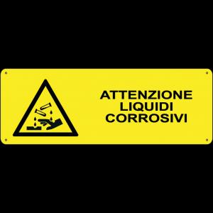 Attenzione liquidi corrosivi orizzontale