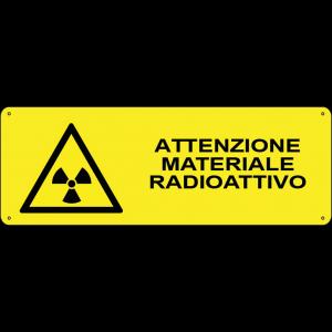 Attenzione materiale radioattivo orizzontale