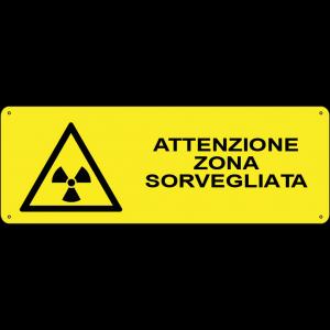 Attenzione zona sorvegliata orizzontale