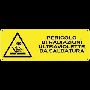 Pericolo di radiazioni ultraviolette da saldatura orizzontale