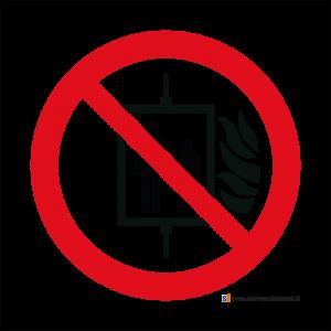 Vietato l'uso dell'ascensore in caso d'incendio - Bordo Macchina