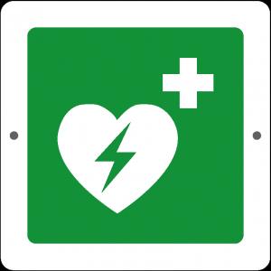 Targa in Plex Quadrata - Emergenza - Defibrillatore di emergenza