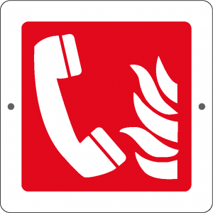Targa in Plex Quadrata - Antincendio - Telefono emergenza incendio