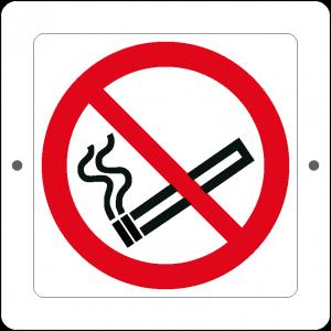 Targa in Plex Quadrata - Divieto - Vietato fumare